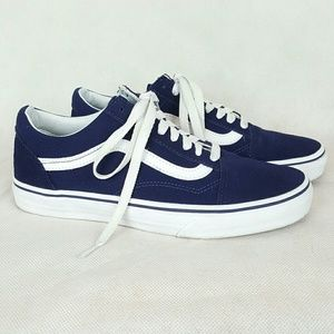 Vans Old Skool Navy Blue Suede Canvas Sneakers 8